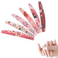 Nail Files 6Pcs/Lot File 80/100/120/180/240 Art Sanding Buffer Valentine's Day Dsign Polish Beauty Professional Tools