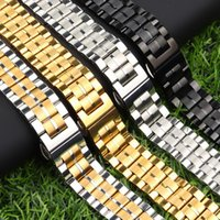Watch Bands Band 18mm 20mm 22mm Strap Double Insurance Replacement Metal Solid Stainless Steel Watchband Wristband