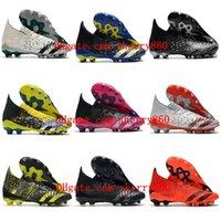 2021 PREDATOR FREAK.1 AG Mens Soccer Shoes MESSI Football Boots Showpiece Ilver Metallic Core Black Tacos de futbol
