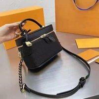 Высококачественная мода Print Makeup Bag 2021 дизайнерские дамы косметические сумки Brand Best-продажа сумка большой емкости с коробкой