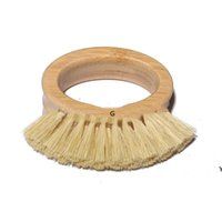 Wooden Handle Cleaning Brush Creative Oval Ring Sisal Dishwa...