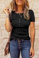 Топы женские футболки O-шеи тройники лето короткие случайные женские футболки женские