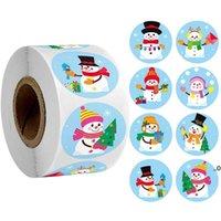 10 estilos Etiqueta de Natal adesivo adesivo redondo feliz Natal adesivo envelope cartão caixa de presente decoração fwe8720