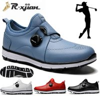 Golf shoes R. Xjian Latest High Quality Ultra Light Shoes Professional Grass Game Training Men Sports Women's Casual 0908