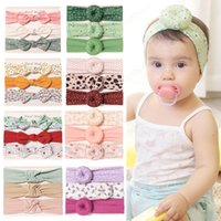 16 Styles Baby girl Headband leopard floral hair accessories Knot Bows Bunny Hairbands kids Flowers Geometric Print Hairband 3pcs set