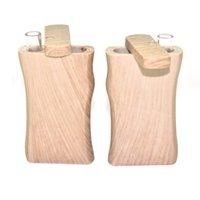 Klassische ABS Holzkunststoff-Dugout mit Glas-Rohrfilter-Digger ein Hitter-Rauchzusammenordnung-Stash-Case 2in1 Vape-Ecig-Container