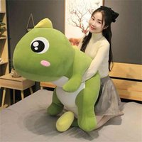 55-140cm 큰 크기 긴 사랑스러운 공룡 플러시 장난감 소프트 만화 동물 인형 베개 아이 소녀 생일 선물 210804