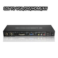 VGA / DVI // AV 1080P Yayın Desteği için 3G-SDI SimultaneOUUSU / DVI / VGA Kompozit Video ve SDI Loop Ses Kabloları Bağlantılarını Uzatın