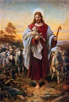 Das gute Shepherd-Ölgemälde auf Leinwand Home Decor Handgemalte / HD-Print-Wandbild-Anpassung ist akzeptabel 21051129