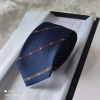 Mens Ties 8.0cm Silk Neck Ties Striped Ties for Men Formal Business Wedding Party with gift box high qualtiy