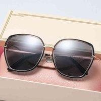 نظارات شمسية نظاراته النظارات النساء الاستقطاب الفاخرة الكريستال السيدات العلامة التجارية مصمم نظارات الشمس نظارات للإناث 6190