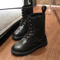 Designer KIDS Martin boots desinger Winter Casual Shoes plus velvet brand Stripe For Boys Girls Leather Classic Design Lattice Waterproof Martin Rubber Sole a1