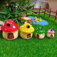 Giardino Decorazioni Miniature Fungo Micro Micro Paesaggio Ornamento Ornamento Creativo Resina Plants Mini Patio Prato Prato per bambini Desktop Desktop Ornamenti fai da te