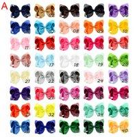 40 Kolor 4-calowy Moda Wstążka Bow Hairpin Klipy Dziewczyny Duże Bowknot Nakrycia głowy Dzieci Włosy Boutique Łuki Baby Włosy Akcesoria Dla Dzieci O1
