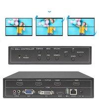 Video Duvar Kontrol Cihazı İşlemci 2x2 1x3 1x2 DVI VGA Karışık Girişler 1x4 Splitter Ses Kabloları Konnektörler