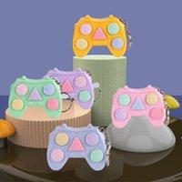 Fidget Juguetes Mini Manillar juego Llavero Juegos de memoria para niños Adultos Manejar Memoria Entrenamiento Maze Cubo Gadget DHF7258