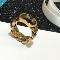 Fashion Gold Rings For Women Luxury Womens Ring Love Lady Designer Bague Jewelry Stainless Steel Letter Engagement Present Gift Tide