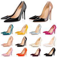 2021 moda sexy rojo abajo tacones altos tacones altos para las mujeres zapatos de vestir fiesta triple triple negro desnudo amarillo rosa brillo picos puntiagudos puntiagudos bombas mocasines