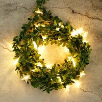 Decorative Flowers & Wreaths Artificial Ivy Garland Fake Vine 20ft Faux Greenery Hanging Plants With 40 LED String Light For Holiday Wedding