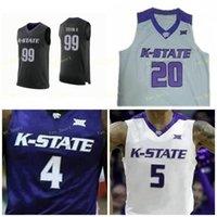 NCAA College Kansas State Wildcats Jersey 32 Dean Wade 0 Mike McGuirl 1 Shaun Neal-Williams 2 Diarra 3 Kamau Stokes Costume Costume