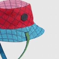 2021 Новый дизайнерская ковша шляпа шапка для мужчин Женщина бейсбольные колпачки Beanie Cavquettes Рыбацкие ведра лоскутное мытье джинсовые шляпы высокое качество летнее солнцезащитное забрало