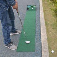 Treinamento de golfe AIDS 33 * 250 cm colocando treinador esteira profissional portátil mini verde e ferramentas ao ar livre