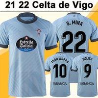 21 22 RC Celta de Vigo Solari Brais Mens Jerseys de fútbol Iago Nolito Beltran Cervi Kevin Home Blue Stenea Corta Fútbol Camisa de Fútbol