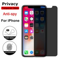 Full Privacy Protector Tempered Glass for IPhone12 6s 7 8 X XS Max XR on IPhone 11 Pro Anti Spy Screen Protect Prevent Peek