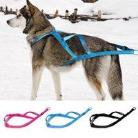 الكلب الياقات المقاود الشتاء الحيوانات الأليفة تزلج تسخير الكلاب العاكسة الوزن سحب خفيفة مبطن للتدريب ممارسة skijoring سكوج K9