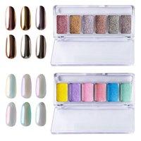 Nail Glitter Aurora Holographic Solid Nails Art Pigment Powder DIY Designs Decoration Accessories Supplies For Professionals