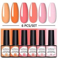 Couleur 8 ml de gel orange vernis à ongles UV vernis hybride pour manucure base de fond de fond ongles art