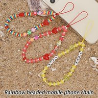 Cell Phone Mounts & Holders Mobile Lanyard Colorful Cute Beads Chain Strap Decoration Accessories For Key Purses Universal