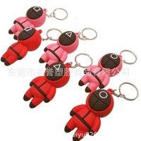 TV Squid gry Lalka Breloczek Łańcuch 3D Trójwymiarowy Koreański Czerwony Różowy Wisiorek Dla Dzieci Maszyny Mini Torba Dla Dzieci Plecak Breaking Christmas Party Supplies H1081V8F