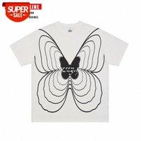 T-shirt a maniche corte a farfalla per uomini e donne coppie estate national marea marca hip-hop top allentato # 6i82