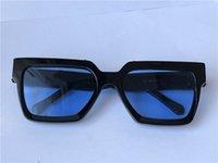 Homens Design Óculos de Sol Millionaire Quadrado Quadrado Qualidade Superior Avant-Garde Velho Velho Vidros com Caso 96006
