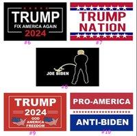 11 Stili Trump 2024 Bandiera U.S. Generale Elezione Banner 2 Genori di rame Prendere America Back Flags Poliestere Outdoor Decorazione interna 90 * 150 cm / 59 * 35inch