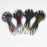 Pyrex glass smoking pipe tobacco hand pipes colorful spoon handpipe bubble carb caps silicone nectar collectors quartz bangers