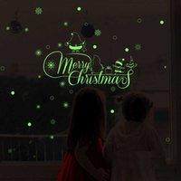 Novo Feliz Natal Luminoso Adesivos Quarto Decorativo Decorativo Adesivos Sala de estar Decorativa Decorativa Decoração