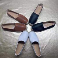 2021 Рыбац женская обувь алфавит сандалии Weave хлопчатобумажные льняные джинсовые пеньки повседневный дизайнер лето на открытом воздухе пляж каната соломенные ровные флопы женские пальцы ноги кожаные тапочки