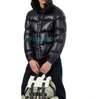 겨울 다운 재킷 편지 넥타이 세련된 분위기 멋진 검은 반사 컬러 코트 두꺼운 스타일 100 % 솜털 화이트 오리 깃털 이상의 5 가지 크기 XS-XL