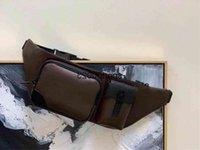 Christopher Men Bumbag Bumbag Bolsas de Cinto de Coração Cruzeiro Genunie Couro Couro Cintura Cintura Bolsas De Ombro Bolsa M45337