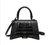 Luxurys Designer Taschen Krokodil Muster Weibliche Mode Trendy Echtes Leder Handtasche Schulter Tote Kleine B-Formschnalle Geldbörse