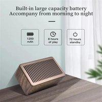 Speaker Bluetooth portátil caixa de madeira sem fio à prova de gota à prova d 'água subwoofer desktop computador suporte de rádio tf alto