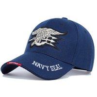 2021 최고의 고품질 남성 미국 해군 야구 모자 네이비 물개 캡 전술 육군 모자 트럭 운전사 Gorras Snapback Hat 성인용