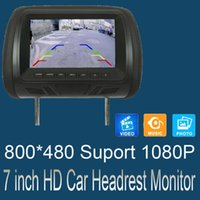 Car Video Universal 7 Inches Headrest Monitor MP5 MP4 Multimedia Player With Lighter Plug Adapter USB SD FM Speakers