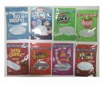 500 mg Boş Tahıl Pirinç Torbaları Şanslı Charms Froot Loops Cap'n Crunch Meyveli Çakıl Taşları Krispies Kızarmış Mylar Çanta Ambalaj