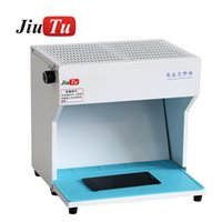 Anti-Static Clean Dust-Free Room With LED Lights Workbench Cleaning Working For LCD Refurbish Phone Repair Bench Cell Repairing Tools
