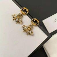 Brincos de designer Jewellery2020 Gujia New Bronze Vento Duplo-G Cristal Pingente Bee Brincos de Bee Personalizado Fashion Brincos para W P5DW X2PH