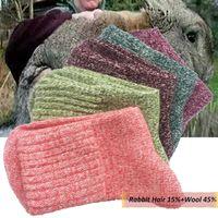 1 Pair Wool Rabbit Fur Thick Socks Women Soft Cotton Sports Casual Sock Winter Warm Autumn Cold Resistance Socks