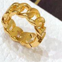 Mode Designer Gold Letter Love Anneaux Bague pour Lady Femmes Party Fête Mariage Engagement Bijoux avec boîte